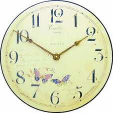 Butterfly Motif Wall Clock