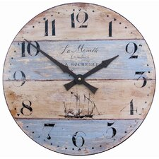 Wall Clock with Driftwood Effect