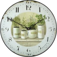 Herb Pots Table / Wall Clock