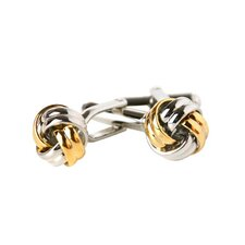 <strong>Cuff-Daddy</strong> Knot Cufflinks in Silver and Gold