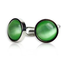 Bold Cufflinks in Light Green