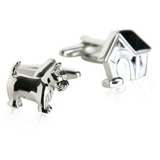 Doghouse and Dog Cufflinks