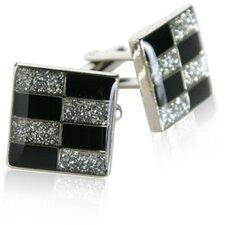 Brickwall Diamond Dust Cufflinks