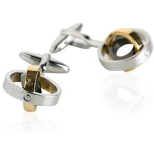 <strong>Cuff-Daddy</strong> Tri-Color Movable Rings Cufflinks