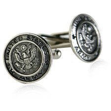 US Army Cufflinks in Silver