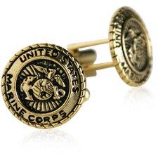 USMC Marine Corp Cufflinks in Gold
