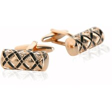 <strong>Cuff-Daddy</strong> Ornate Cufflinks in Rose Gold