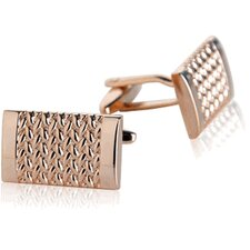 <strong>Cuff-Daddy</strong> Weave Cufflinks in Rose Gold