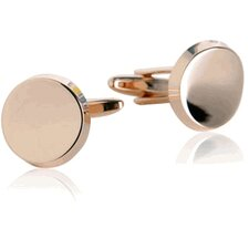 Curved Rounds Cufflinks in Rose Gold