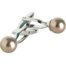 Bronze Cultured Pearl Cufflinks