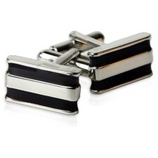 Bar Cufflinks in Black