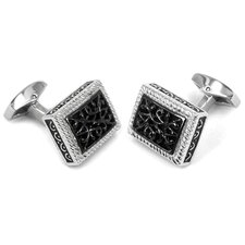 Cufflinks in Black / Stainless