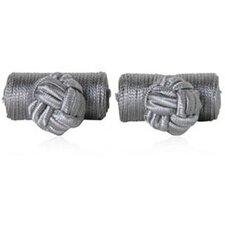 Silk Knots Cufflinks in Gray