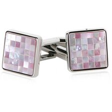 <strong>Cuff-Daddy</strong> MOP Mosaic Cufflinks in Pink