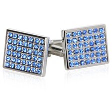 <strong>Cuff-Daddy</strong> Crystal Grid Cufflinks