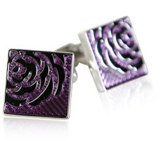 Rose Cufflinks in Lavendar