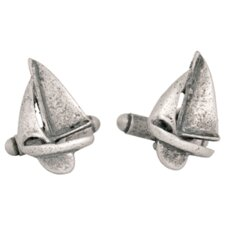 <strong>Cuff-Daddy</strong> Sailboat Cufflinks