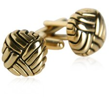 Swirled Gold Cufflinks