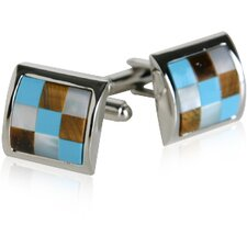 Cufflinks with Semi-Precious Stones