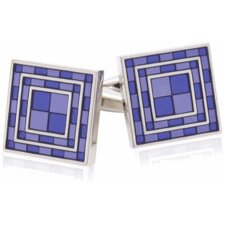 <strong>Cuff-Daddy</strong> Purple Tiles Cufflinks