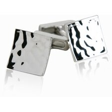 Pounded Silver Cufflinks