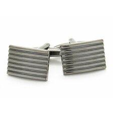Classic Lined Gunmetal Cufflinks