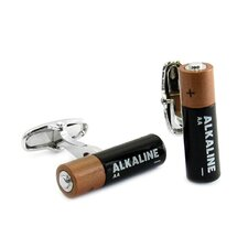 Double AA Battery Cufflinks