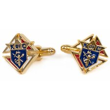 <strong>Cuff-Daddy</strong> Goldtone Knights of Columbus Cufflinks