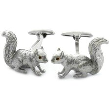Swarovski Crystal Squirrel Cufflinks