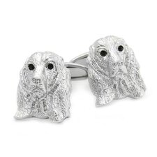 Swarovski Crystal Cocker Spaniel Dog Cufflinks