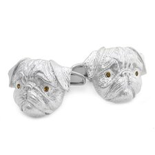 Swarovski Crystal Pug Cufflinks