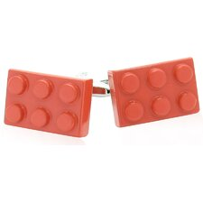 <strong>Cracked Pepper</strong> Building Block Cufflinks in Red