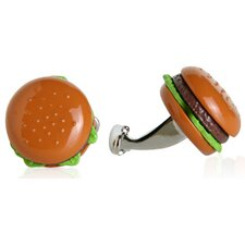 <strong>Cracked Pepper</strong> Hamburger Cufflinks