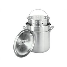 Aluminum Stockpot with Steamer Basket
