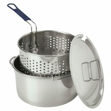 <strong>Bayou Classic</strong> Stainless Steel 14 Quart Deep Fryer with Lid and Basket