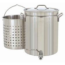 40-qt. Stock Pot with Lid and Faucet
