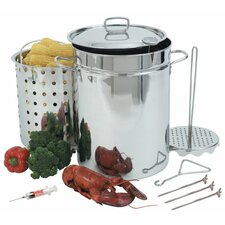 Stainless Steel 32 Quart Turkey Fryer
