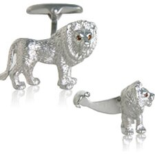 Lion Cufflinks with Swarovski Eyes (Set of 2)