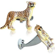 Painted Cheetah Cufflinks (Set of 2)