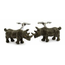 Painted Rino Cufflinks