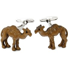 Hand Painted Camel Cufflinks
