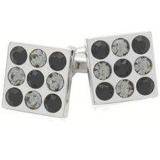 Crystal Bingo Board Cufflinks in Black Diamond and Jet (Set of 2)