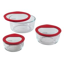 Premium Glass Lids 3 Piece Storage Set