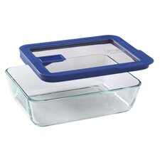 No Leak Lids™ 6-Cup Rectangular Storage Dish