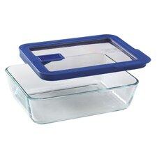 No Leak Lids 6-Cup Rectangular Storage Dish