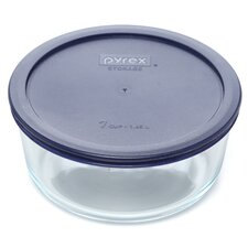 Storage Plus 7 Cup Round Dish with Lid