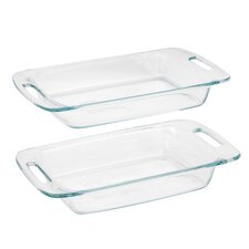<strong>Pyrex</strong> Easy Grab 2 Piece Oblong Baking Dish Set