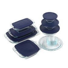 <strong>Pyrex</strong> Easy Grab 19 Piece Bakeware Set with Plastic Cover