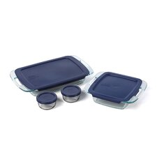 <strong>Pyrex</strong> Easy Grab 8 Piece Bakeware Set with Plastic Cover