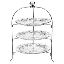Dublin 3 Tier Crystal Serving Rack